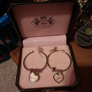 Juicy Couture hoops❤